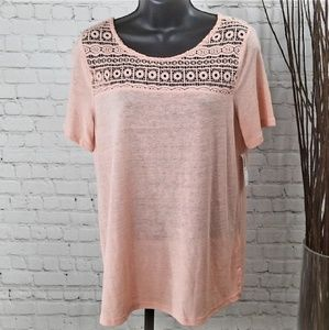 *New* Old Navy Shirt with Lace Detail Sz S/P